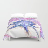 seashell Duvet Covers featuring seashell by haroulita