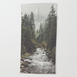 Mountain creek - Landscape and Nature Photography Beach Towel
