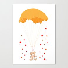 Landing Bear Canvas Print