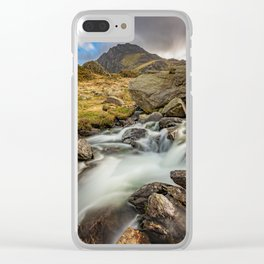 Tryfan Mountain north Wales Clear iPhone Case