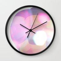 ballon Wall Clocks featuring Shiny Ballon by Timo Bouerdick