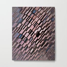 Abstract Architectural Blush Metal Print