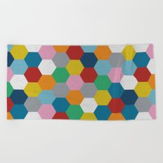 Honeycomb 3 Beach Towel