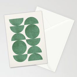Green Retro Scandinavian - Mid Century Modern Stationery Cards