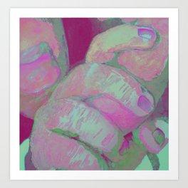 I love You Mum (pink) Art Print