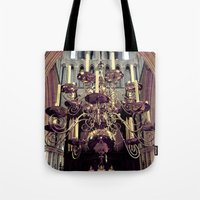 chandelier Tote Bags featuring Chandelier  by Jonathan Wright Productions