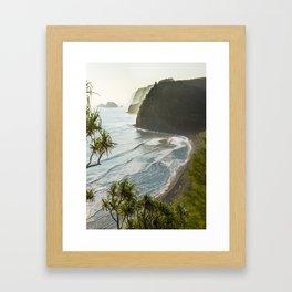 Polulu Valley - Big Island, Hawaii Framed Art Print