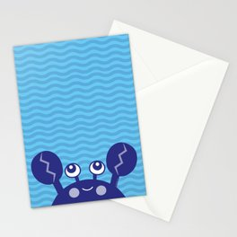 Blue Crabby Crab Stationery Cards