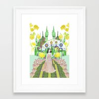 saga Framed Art Prints featuring Saga by Elin Emanuelsson