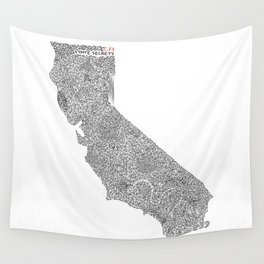 State Secrets - California Wall Tapestry