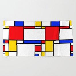 Piet Pattern Beach Towel
