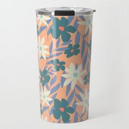 Just Peachy Floral Travel Mug