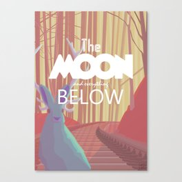 The Moon and everything Below Canvas Print