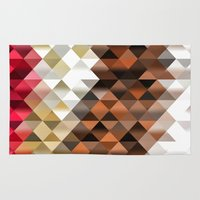 triangle Area & Throw Rugs featuring Triangle by Susann Mielke
