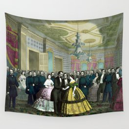 President Lincoln's Last Reception Wall Tapestry