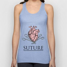 Suture Heart Unisex Tank Top