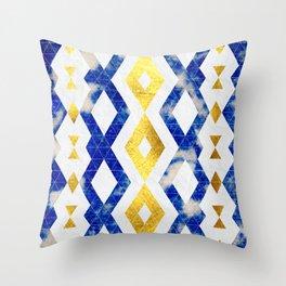 Azurite Falls Throw Pillow