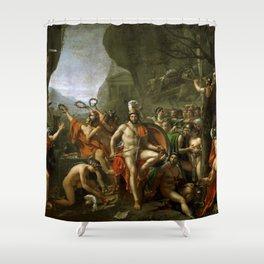 Leonidas at Thermopylai  Shower Curtain