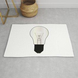 Isolated Light Bulb Rug
