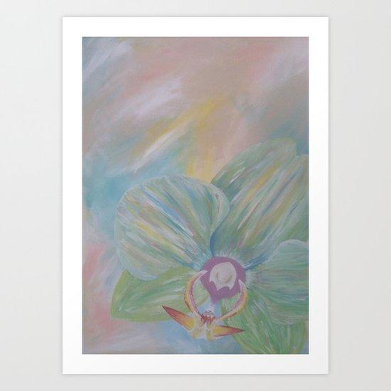 Tipsy Orchid Art Print
