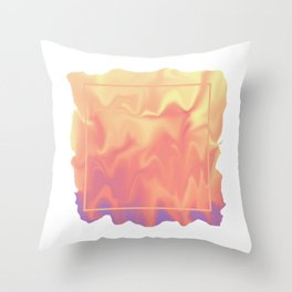 melting colors Throw Pillow