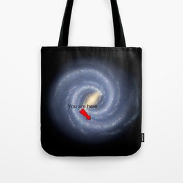 You are Here (improved version) Tote Bag