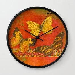 Three Butterflies Wall Clock