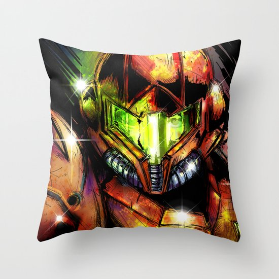 Samus Throw Pillow