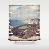 hawaii Shower Curtains featuring Hawaii by Chandon Photography