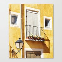spanish Canvas Prints featuring Spanish balcony by AlejandraClick