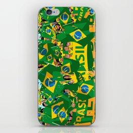 Brazil Soccer Fans iPhone Skin