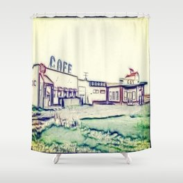 Dog River and Corner Gas Shower Curtain