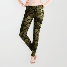 Faux Toad Skin Abstract Pattern Leggings