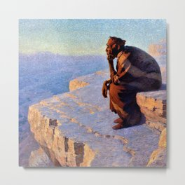 The Great Spirit - Grand Canyon by William R. Leigh Metal Print