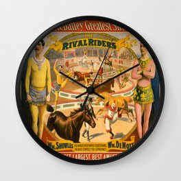 Vintage poster - Rival Riders Wall Clock