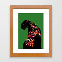 FIERCE FLOWER Framed Art Print