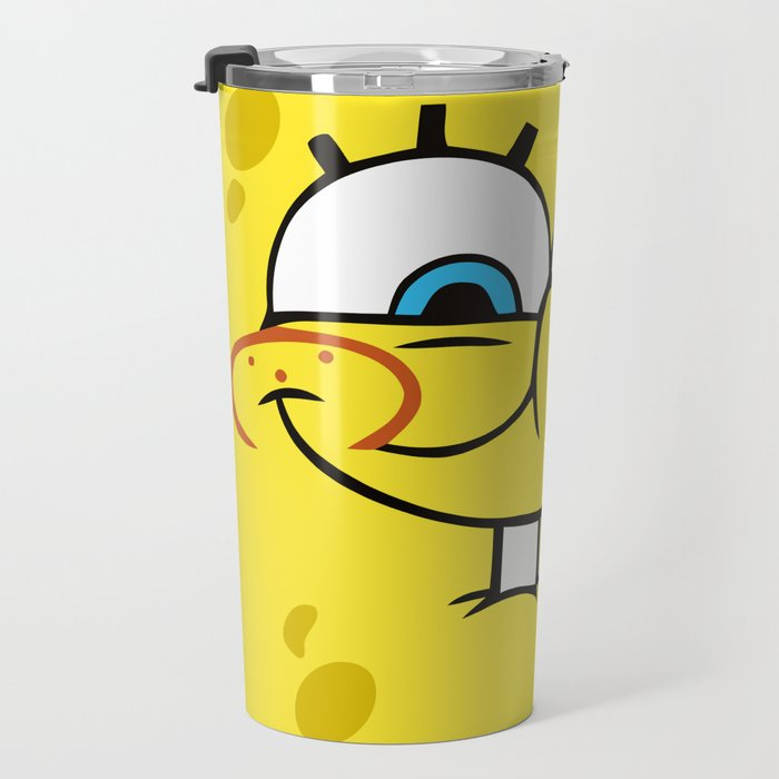 Spongebob Naughty Face Travel Mug