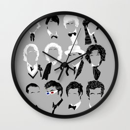 Twelve Doctors Wall Clock