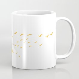 Colored spring birds geese ducks cranes  Coffee Mug