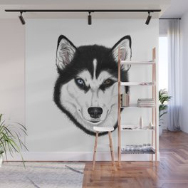 Husky different eyes Wall Mural