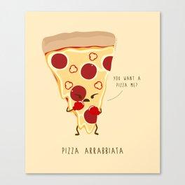 Pizza Arrabbiata / Angry Pizza Canvas Print
