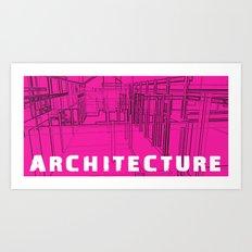 Architecture Pink Art Print