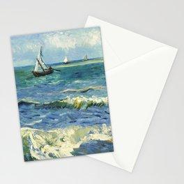 Seascape near Les Saintes-Maries-de-la-Mer (1888) by Vincent van Gogh  Stationery Cards