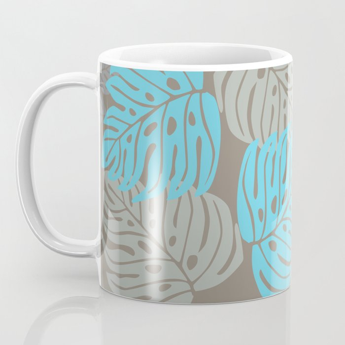 Hawaiian leaves pattern N0 2, Art Print collection, illustration original pop art graphic print Coffee Mug