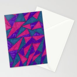 Geometric Pink & Blue Stationery Cards