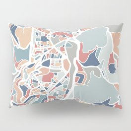 Jerusalem Map Art Pillow Sham