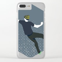 bouldering man Clear iPhone Case