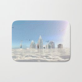 City in the clouds (bright) Bath Mat