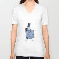 pride V-neck T-shirts featuring Pride by Tara Kostick