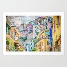 Manarola, Cinque Terre, Architecture Art Print